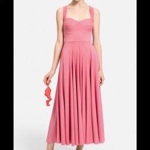Nadia Tarr Pink Bustier Dress